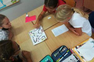 Klasa 6a podczas lekcji kreatywności